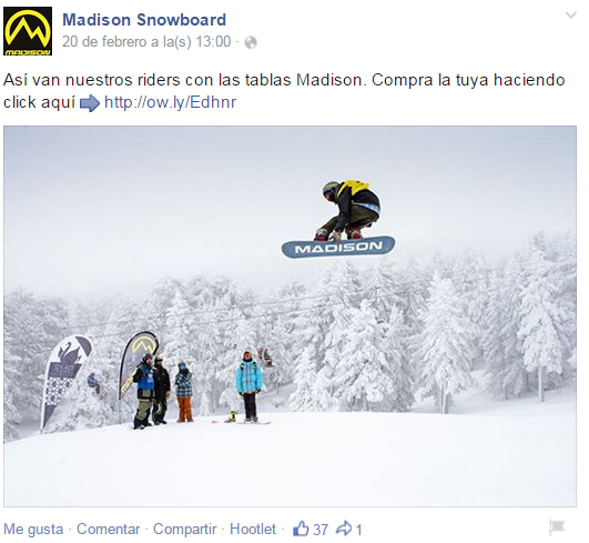 madison snowboard redes sociales